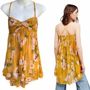 Free People mirage baby doll floral tube tunic S